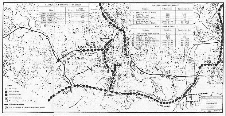 baltimore interstate system map