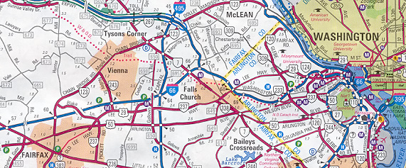 Vdot Traffic Map.Interstate 66 And Metrorail Vienna Route