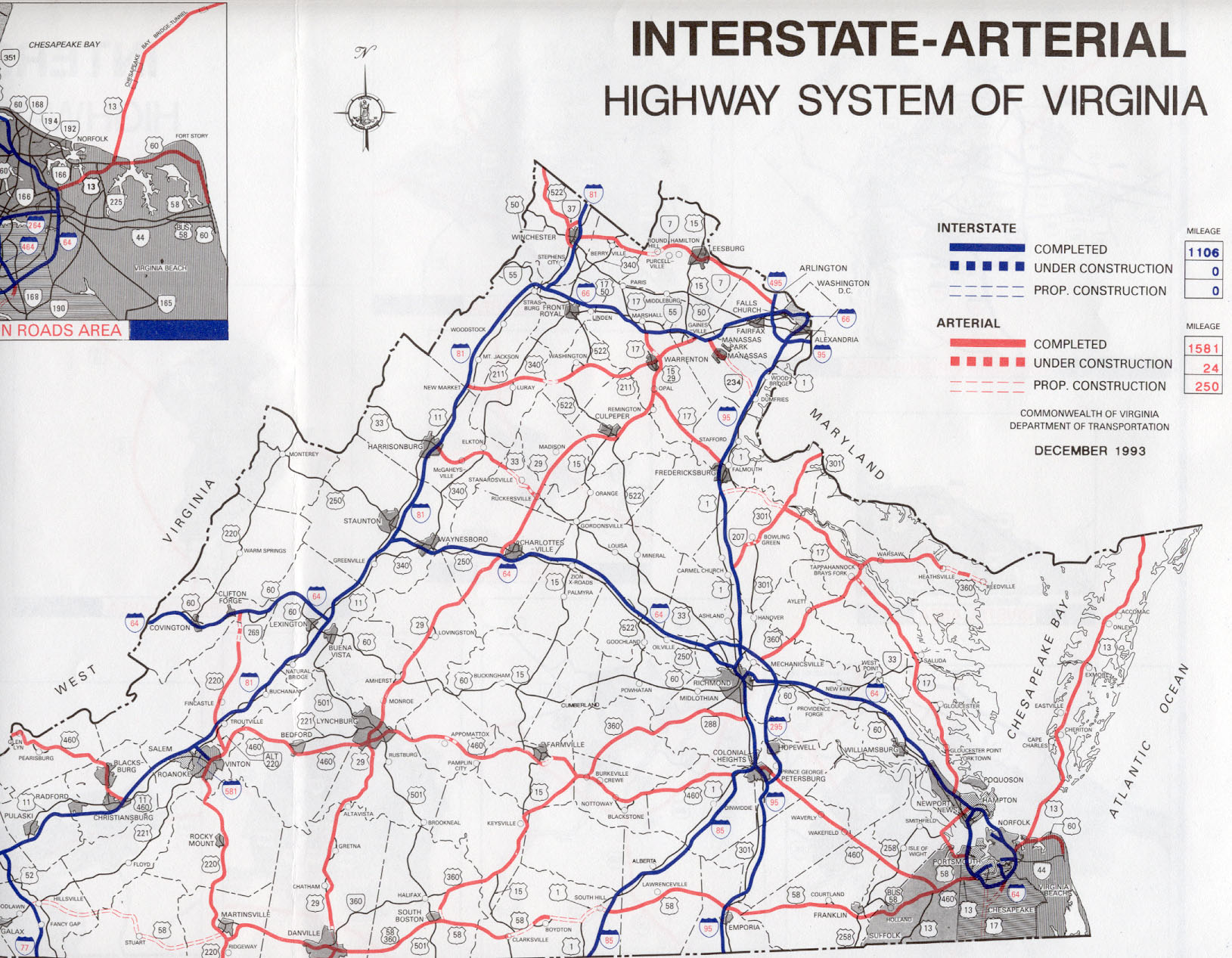 Arterial Highway System in Virginia