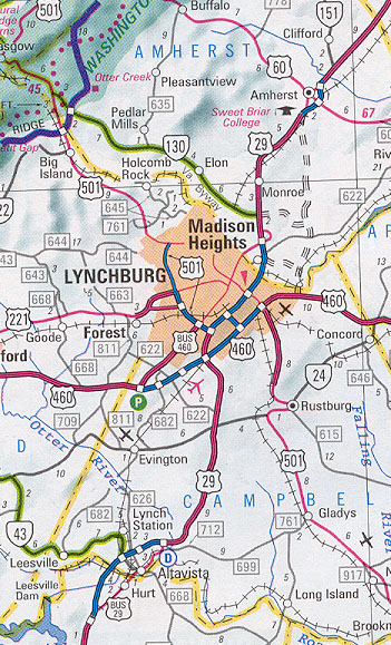 US-29 Lynchburg / Madison Heights Bypass