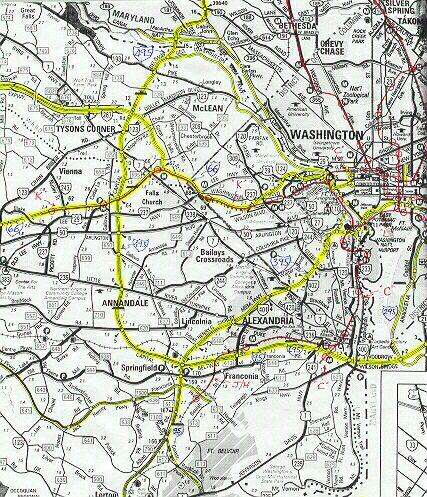 Northern Virginia Freeway And Metrorail Map