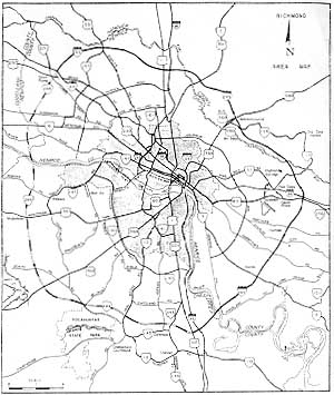Richmond Beltway (I-295 and VA-288) on map of cities by virginia, thomas charles city county virginia, street map virginia, map of mountains in virginia,
