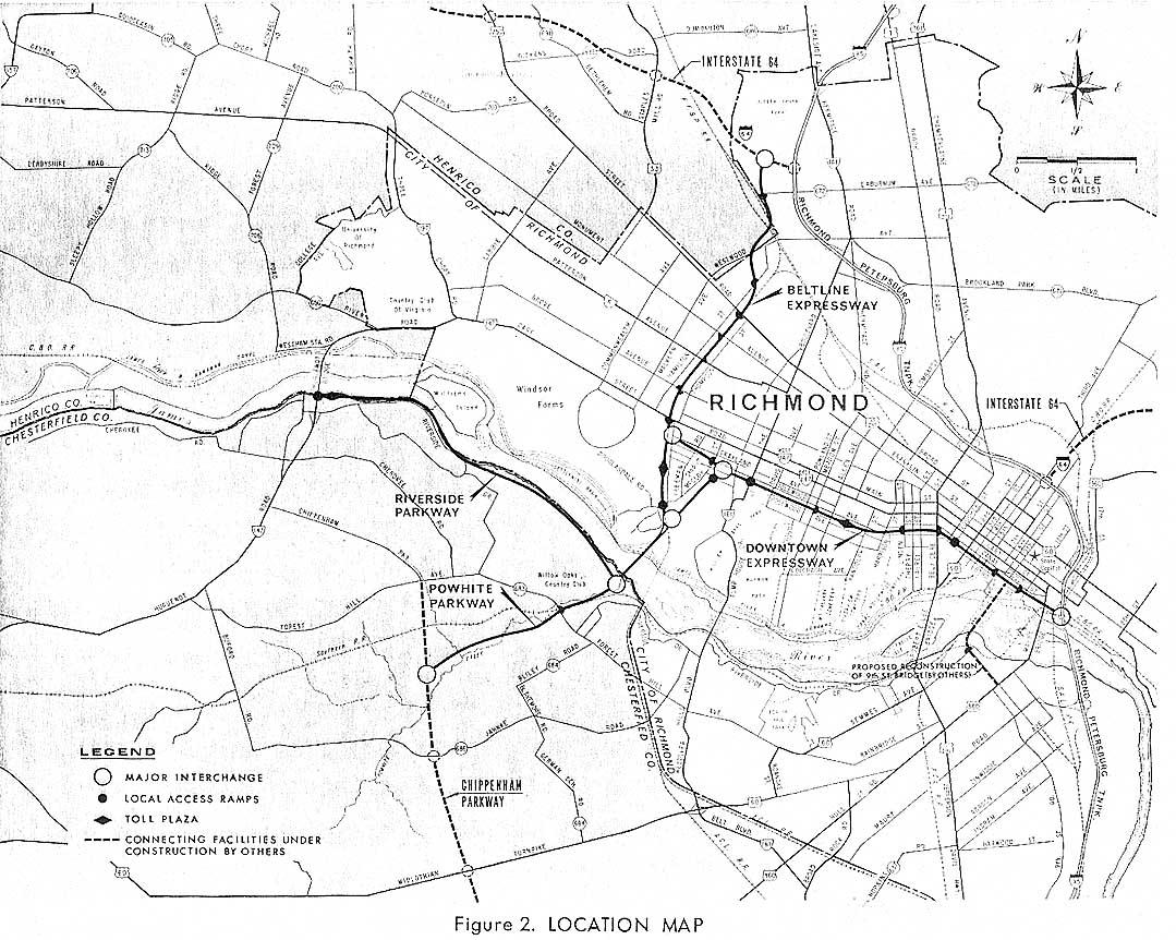 Richmond Interstates and Expressways