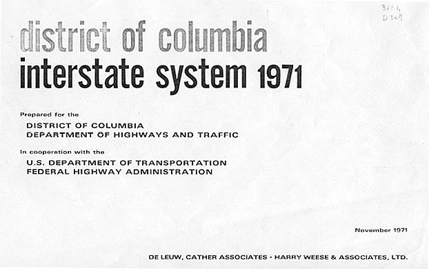 prepared for the district of columbia department of highways and traffic in cooperation with the us department of transportation federal highway
