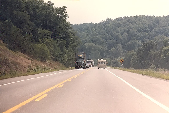 I 68 Had Not Yet Been Built On A 19 Mile Section Just East Of Cumberland So This Section Of Us 40 Was Still Serving As The Main East West Highway
